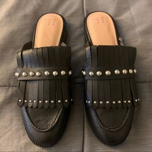 A new day studded black mules